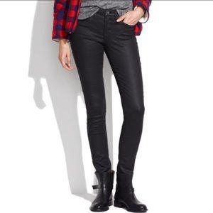 Madewell Skinny Skinny shiny coated black jeans